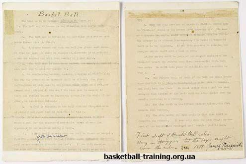 Правила баскетбола: первые правила игры в баскетбол