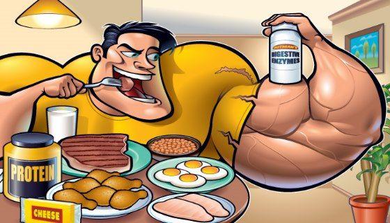 Рациональное питание для построения мышечной массы