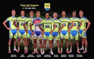 Состав команды Тинькофф-Саксо на Тур де Франс-2015.
